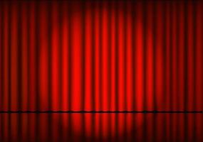 rote Theatervorhanghintergrundvektorillustration. vektor