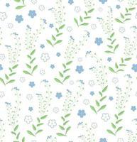 nahtloses Muster der Blumenverzierung mit Vergissmeinnicht-Blumen. Perfekt für Tapeten, Grußkarten, Hintergründe oder Geschenkpapier. vektor