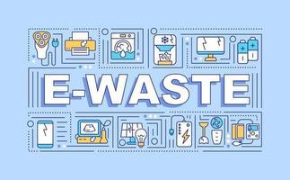 Banner für E-Waste-Wortkonzepte vektor