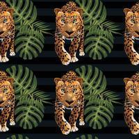 schöne Dekorationsschablone der tropischen nahtlosen Kunst vektor
