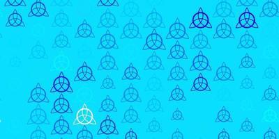 hellrosa, blaues Vektormuster mit magischen Elementen. vektor