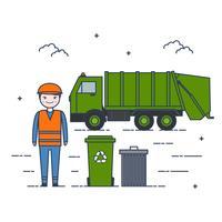 Müll Mann Vektor