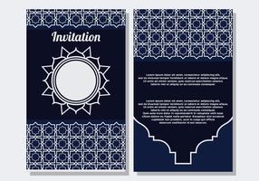 Islamische Art Einladung Vorlage vektor