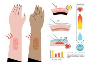 Ultraviolette Infographic-Elemente-Vektor-flache Illustration
