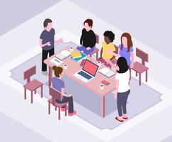Isometrische Teamwork-Illustration vektor