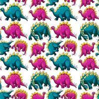 nahtloses Muster mit Fantasie-Dinosaurier-Karikatur vektor