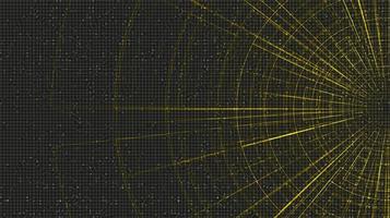 futuristische Hyperraumgeschwindigkeitsbewegung auf zukünftigem Technologiehintergrund, Warp- und expandierendes Bewegungskonzept, Vektorillustration. vektor
