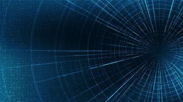 abstrakte Hyperraumgeschwindigkeitsbewegung auf zukünftigem Technologiehintergrund, Warp- und Erweiterungsbewegungskonzept, Vektorillustration. vektor