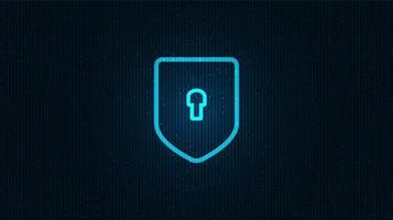Netzwerk Technologie Schild Sicherheit, Schutz und Verbindungskonzept Hintergrund design.vector Illustration. vektor
