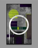 abstrakte geometrische Formen Hintergrundkomposition, geeignet zum Drucken als Malerei, Innendekoration, soziale Beiträge, Flyer, Buchumschläge vektor