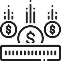 linje ikon för investering vektor