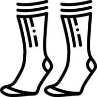 linje ikon för strumpor vektor