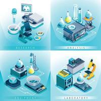 Isometrisches Designkonzept für Laborgeräte vektor