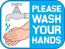 Bitte waschen Sie Ihr Handetikett vektor