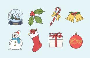 Weihnachtsobjekte. Hand gezeichnete Art Vektor-Design-Illustrationen. vektor