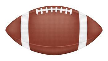 American Football auf weißem Hintergrund vektor