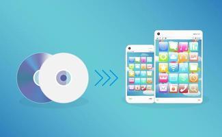 Smart Device mit CD und DVD vektor