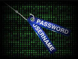 Angelhaken Phishing Benutzername und Passwort Daten vektor