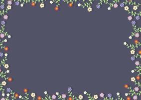ein Blumenrahmen vektor