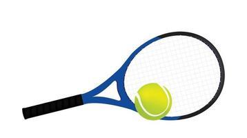 Tennisschläger und Ball vektor