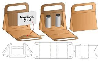 Papiertüte Verpackung gestanzte Vorlage Design. 3D-Modell vektor