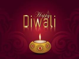 glückliches diwali Festival des hellen Hintergrunds vektor