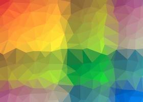 Polygon abstraktes Mosaik vektor