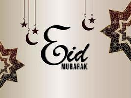 eid mubarak firande gratulationskort med kreativa islamiska mönster vektor