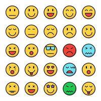 Emotionssymbolsatz vektor