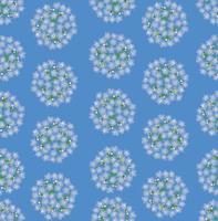 nahtloses Muster des Frühlingsblumens. blaue Blume Vergissmeinnicht-Zierhintergrund. vektor