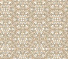 abstraktes kaleidoskopisches Mosaik nahtloses Muster. geometrischer Zierhintergrund der Blume. florale ethnische gekachelte orientalische Blumenverzierung. vektor