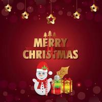 kreative Vektorillustration für frohe Weihnachten Grußkarte vektor