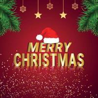 Frohe Weihnachtsfeier Grußkarte kreativen Vektor