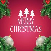 Frohe Weihnachtsfeier-Grußkarte mit kreativer Vektorillustration und Hintergrund vektor