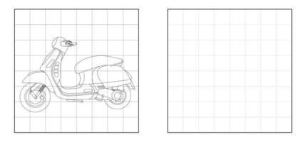 Kopieren Sie das Bild des Motorrad-Umriss-Cartoons vektor