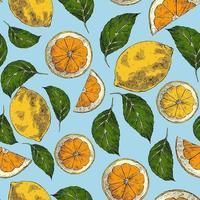 nahtloses Muster mit Zitronen vektor