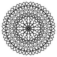Mandala mit Ornamenten. Mandala für Malbuchseite. vektor