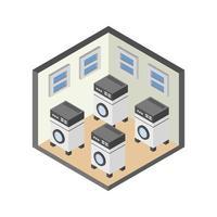 isometrische Waschküche vektor