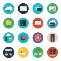 webbtjänster modern ikonuppsättning vektor