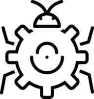 Zeilensymbol zur Fehlerbehebung vektor