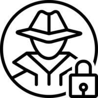 Liniensymbol für Diebstahlsicherung vektor