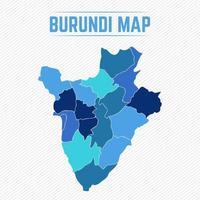 Burundi detaljerad karta med städer vektor