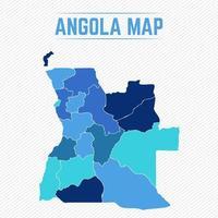 angola detaljerad karta med städer vektor