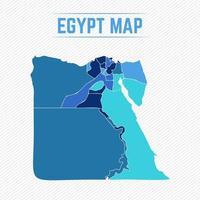 Egypten detaljerad karta med städer vektor
