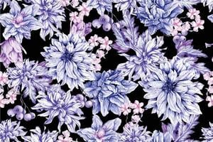 seamless mönster av akvarell blommande blommor vektor