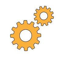 einfache Zahnräder unterzeichnen einfaches Symbol der Arbeitswerkzeuge vektor