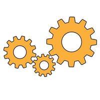 enkla redskap tecken enkel ikon för arbetsverktyg vektor