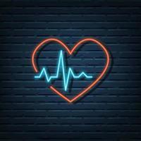 Herzpulsfrequenz-Leuchtreklame vektor