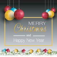 god julkort och gott nytt år vektor
