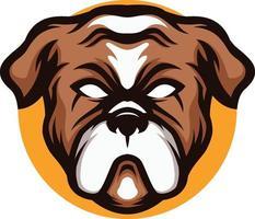 Illustration des wütenden Bulldoggenmaskottchens vektor